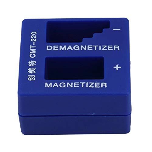 EdBerk74 Desmagnetizador de imagen 2 en 1 para puntas de destornillador eléctrico/manual Herramienta magnética Destornillador portátil Herramienta de recolección magnética
