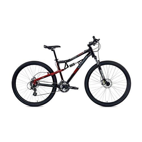 Head Rise TL Full Suspension Mountain Bicycle, 17.5-Inch/Medium, Black