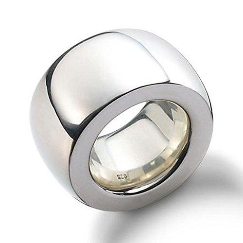 Silberring 15 mm Goldschmiedearbeit (Sterlingsilber 925) schlichter schwerer Ring aus Silber - Damenring - Herrenring - außergewöhnlicher Partnerring
