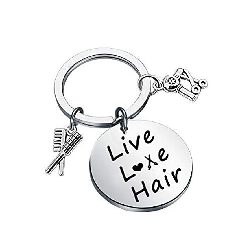 カメ貸し手動機付けるFUSTMW Hair Stylist Gift Hairdresser Keychain Stylist Scissor Comb Charm Pendant Hair Cutter Barber Gift [並行輸入品]