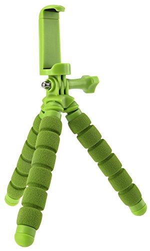 Rollei Monkey Pod Mini - Flexibles Ministativ für Smartphones, Actioncams, Kompaktkameras - Grün