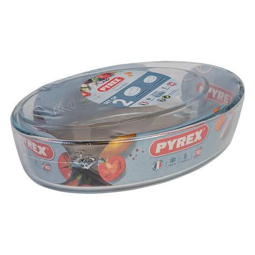 Pyrex Essentials 2 Piece Roaster Set Oval 26x18cm and 21x13cm