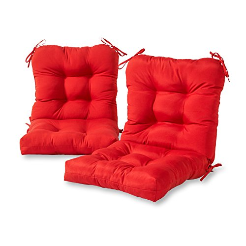 Greendale Home Fashions AZ6815S2-SALSA Fire Outdoor Chair Cushion (Set of 2)