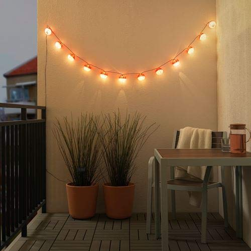 SOLVINDEN +Lichterkette Ikea 10x 12er LED draußen, solarbetrieben rot/weiß