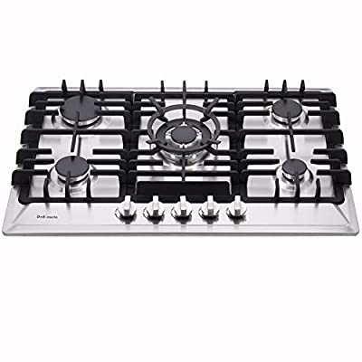 """Deli-mate 30"""" Gas Cooktop Dual Fuel 5 Sealed Burners Gas Cooktop Stainless Steel Drop-In Gas Stove DM527-SA02 Gas Hob Gas Cokker"""