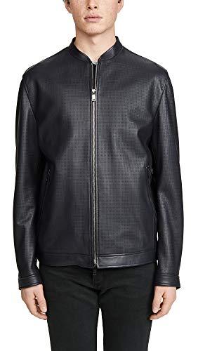 Theory Men's Morrison Leather Jacket, Eclipse, Black, Medium
