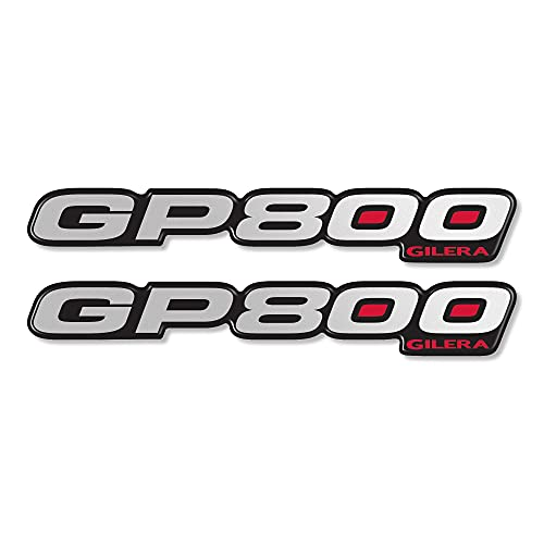2 Adhesivos Resina GP 800 Escrito 3D Compatible para Scooter Gilera GP800 - Mod.1
