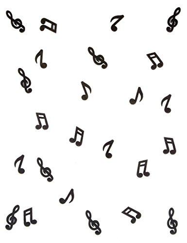 Streudeko Mini Noten & Notenschlüssel in schwarz für Musiker & Musikfans - Inhalt 24 Stück pro Verpackungseinheit