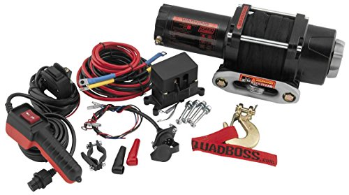 Best Price New QuadBoss 3500 lb Winch with Dyneema Rope & Model Specific Mounting Bracket - 2007-200...