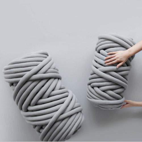 SBWW Manta tejida manual de 15 m de hilo grueso de lana para tejer, lana gruesa, súper suave, para hacer ganchillo, DIY 2020, apto para mantas, perreras, cojines, alfombras y almohadas Rayo de luz