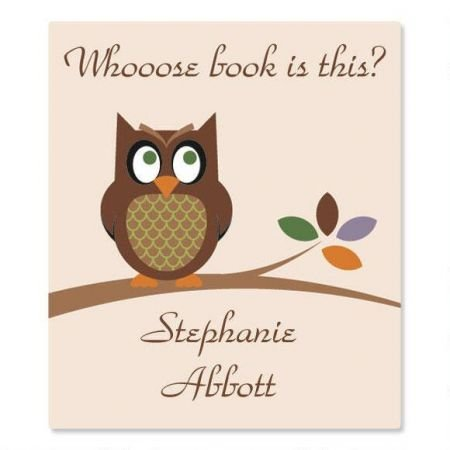 Personalized Owl Bookplates- Set of 144 Book Labels, 1-12' by 1-3/4'