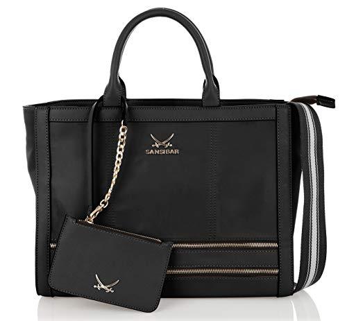 Sansibar-Damen Bowling-Bag 37x28x15 Black