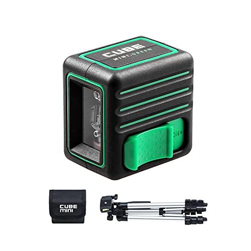ADA Láser de línea Cube Mini Green (Ed. Pro) Alcance: 20 m (70 m con receptor), trípode, IP54, ± 0,2 mm/m