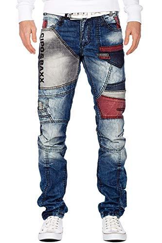 Cipo & Baxx Herren Jeans CD574-bans Blau W38/L30