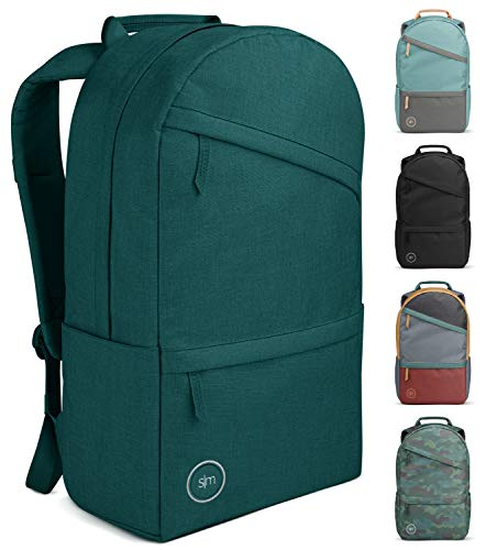 Simple Modern Legacy Backpack with Laptop Compartment Sleeve for Men Women Work School College, Riptide, 25 Liter