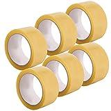 Alaskaprint 6 Rollen 48mm x 66m PP Transparent Paket Klebeband
