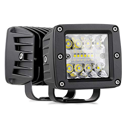 Nirider LED Cubes, 2PCS 84W CREE 3 Inch LED Pod Lights Off Road Driving Lights Spot Flood Combo LED Light Bars Fog Lights Square LED Work Light for Truck Car SUV ATV UTV Boat