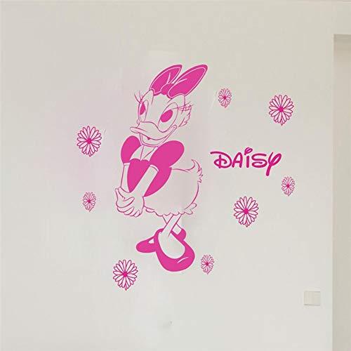 yaonuli Creatieve baby naam cartoon eend kinderkamer kinderen muursticker decoratie muursticker verwijderbare muursticker muursticker