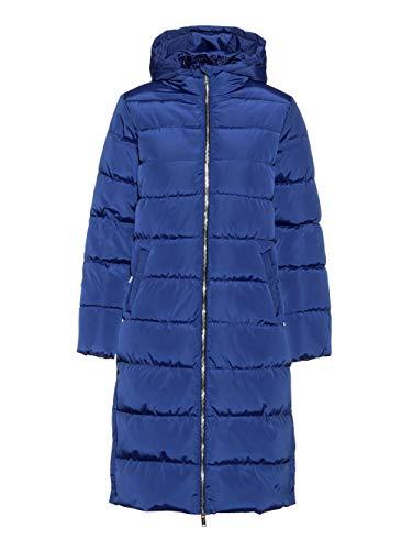 Alba Moda Damen Mantel in Blau mit seitlichen Reißverschlüssen