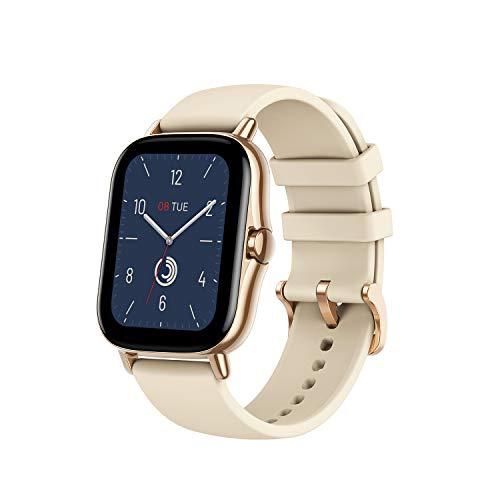 Amazfit GTS 2 Smartwatch, intelligente Armbanduhr mit Anruf, Bluetooth, 90 Sportmodi, Blutsauerstoffsättigungs- und Herzfrequenz-Monitor, Musikspeicherung von 3 GB für Herren Damen