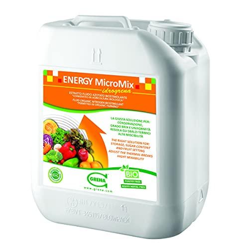 ENERGY IDROGRENA 5L Biostimolante liquido Concime Fertilizzante fluido