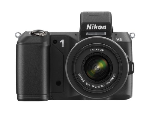 Nikon ミラーレス一眼 Nikon 1 V2 レンズキット 1 NIKKOR VR 10-30mm f 3.5-5.6付属 ブラック N1V2HLKBK