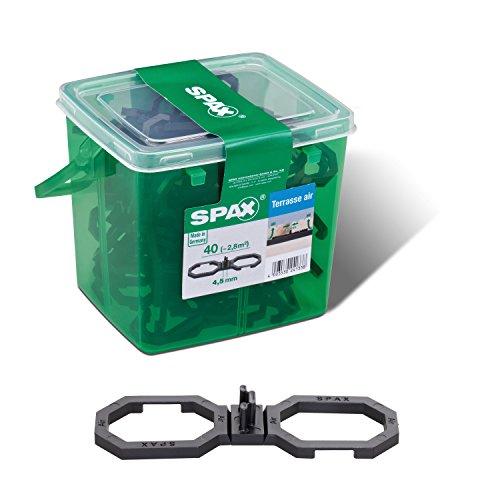 SPAX Air – Terrassendielen Abstandhalter 4,5 mm – 40 Distanzhalter in Henkelbox M für ca. 2,8m² Terrasse, 5009422544009