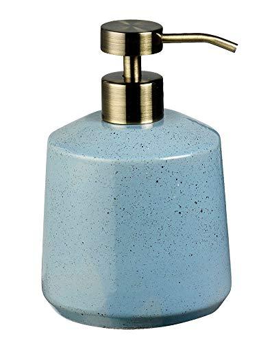 Södahl - Seifenspender - Vintage - blau - Steingut/Metall