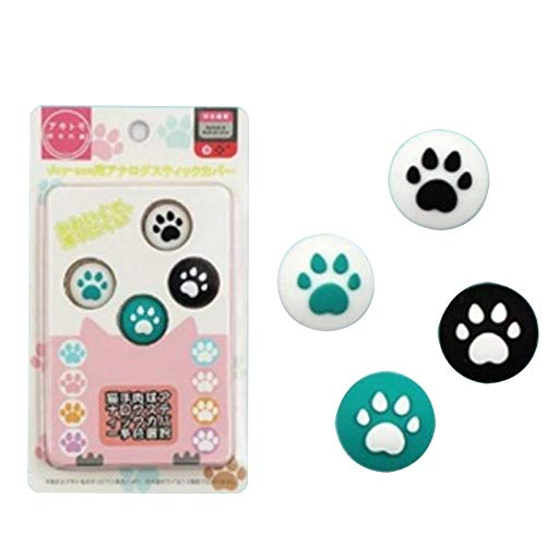 LICHIFIT Leuke Cartoon Cat Paw Controller Thumb Grips Cover Vervanging Joystick Rocker Cap voor Nintendo Switch/Lite