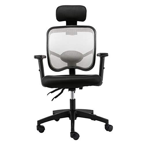 Comif- Executive Reclining, Mesh bureaustoel met hoofdsteun, 10cm hoogteaanpassing, Lifting Armrest, Bedrijf op maat (Gray Black)