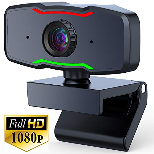 Webcam with Microphone,URXTRAL 1080P HD Webcam Computer Live Streaming Web Cam USB Web Camera for Computer PC Laptop or Desktop Webcam,USB Webcam for Video Calling Recording Conferencing,Manual Focus
