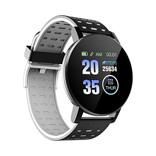 XUEMEI 1.3in HD Pantalla De Color 100 MA Pulsera Inteligente TP Plastic Responsable Smart Watch Calories Pasos Dormir Alarma Deportes Banda (Color : E)