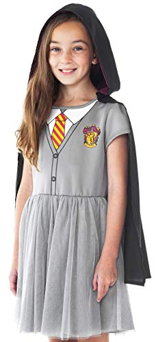 Harry Potter Hogwarts Girls Youth Costume Dress with Cloak 6 Gray