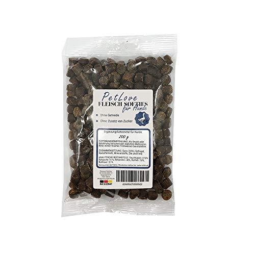 PetLove Premium Fleisch Softies Trainings-Leckerli mit hohem Fleischanteil – Getreidefreier Hundesnack - Gans 200g