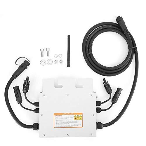 Simlug Inversor de conexión a la red, 600W Soporte 110V-230V Microinversor compatible 450W Inversor solar de red MPPT IP65 18~50VDC a 120/230VAC