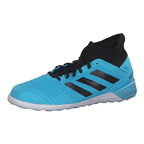 adidas Performance Predator 19.3 Indoor Fußballschuh Herren hellblau/schwarz, 10.5 UK - 45 1/3 EU - 11 US