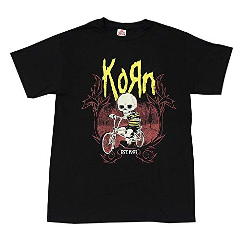 Alstyle Mens Korn Rock Band T Shirt Black Mens Short Sleeve Black New Shirts Printed Tops Tees Fashion
