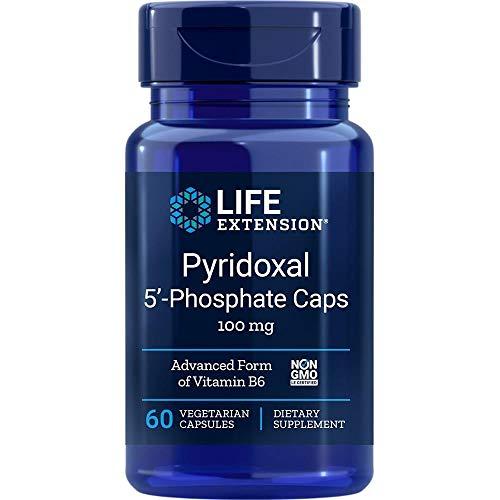 Life Extension, Pyridoxal 5'-Phosphate ( P-5-P ), 100 mg, 60 vegetarische Kapseln