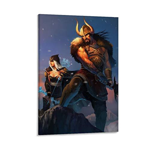 SSKJTC Arte de pared para decoración del hogar, decoración de pared de liga de PC, póster de personajes de juegos de leyendas, arte de pared para dormitorio (20 x 30 cm)