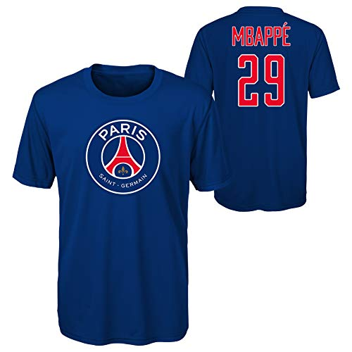 Outerstuff World Cup Soccer Boys Mbappe Name and Number Short Sleeve Tee (Large 14-16) (Medium 10-12) Navy