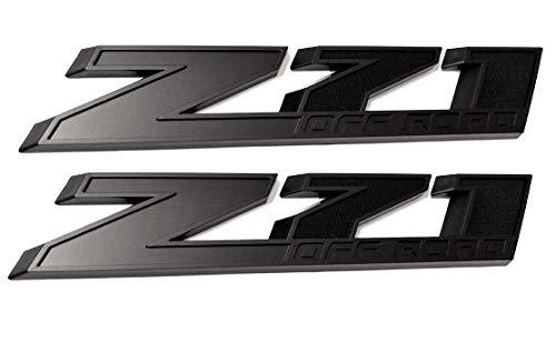 2pcs10 Inch Big Matte Black Z71 Off Road Emblems Replacement for GMC Chevy Silverado Sierra Suburban 2500hd