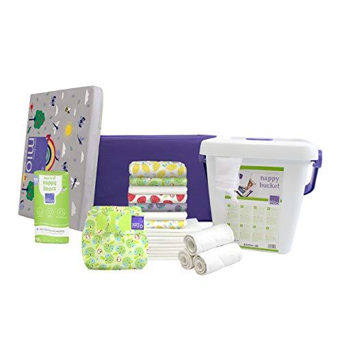 Bambino Mio DUOSTAR NOMFR FRU Bambino Mio, Mioduo - Pañal de tela para principiantes, diseño de frutas descaradas, 4100 g, multicolor