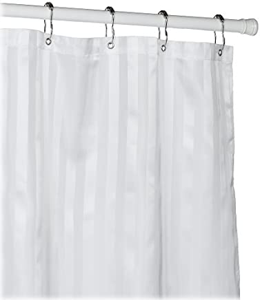 Croscill Fabric Shower Curtain Liner 70 Inch By 72 White
