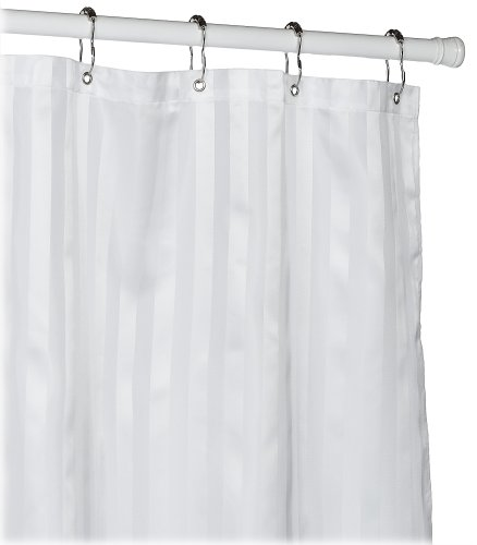 Croscill Fabric Shower Curtain Liner, 70 72-inch, White