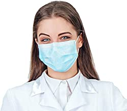50 pcs Disposable Face Masks � Respiratory Protection for Comfortable Daily Use� Large Size Designed to Cover Chin