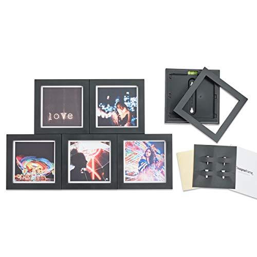MAGNAFRAME Galería de marcos magnéticos para impresiones de tamaño Instagram 4x4-6 Pack (negro)