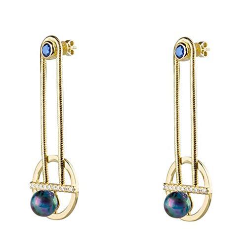 Jewelry Earrings Women's Stud Earrings 925 Silver Ball Imitation Pearl Earrings A Pair of Hand-Set Earrings Best Gift Gift Box Ball Clip-Ons Cuffs&Wraps Drop&Dangle Hoop Stud