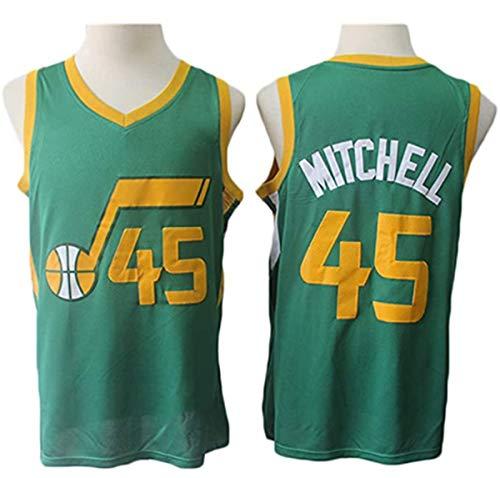GIHI NBA Jersey, Donovan Mitchell 45# Fan Jersey Ropa De Entrenamiento De Baloncesto De Malla Bordada Retro,XXL(185~190CM/95~110KG)