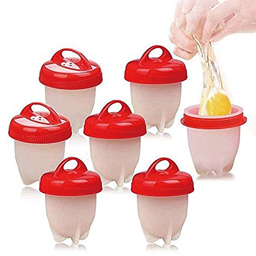 Pineocus 6 Pcs Eierkocher Set, Antihaft-silikon-Ei-kocher, Kreative Modellierung Fancy Egg Cup, Gekochte Dampfer Eggies, Cooker BPA Frei Antihaft Eier Pochier Schnelle für Küche Gadgets Zubehör