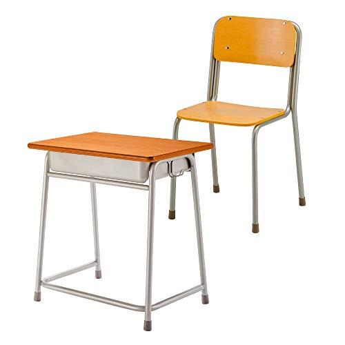 LOOKIT 学習机 椅子 2点セット 完成品 学校の机 59-G2-D-GF223-S3 旧JIS2号